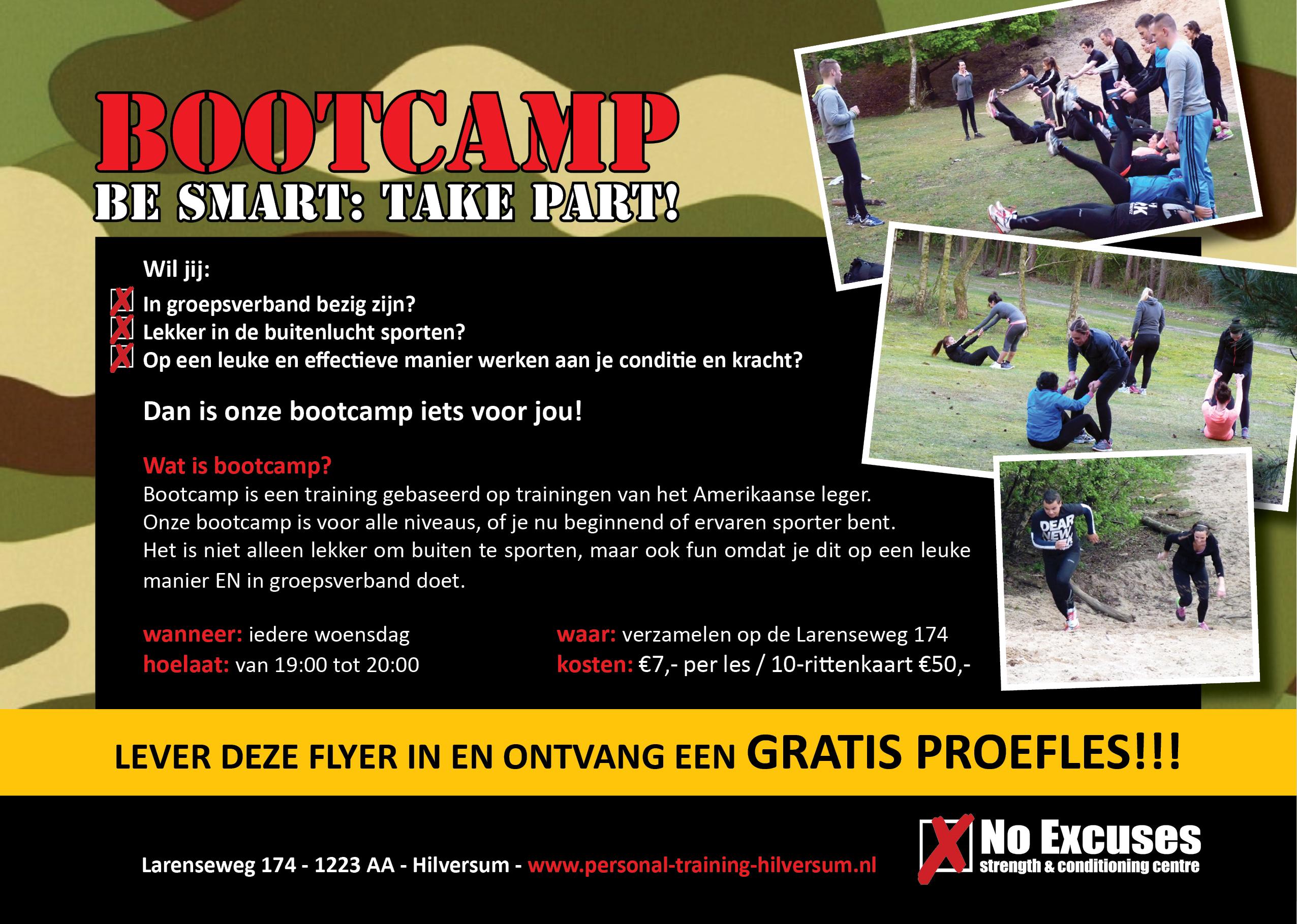 No Excuses, Extra lessen BootCamp en PowerVrouwen!